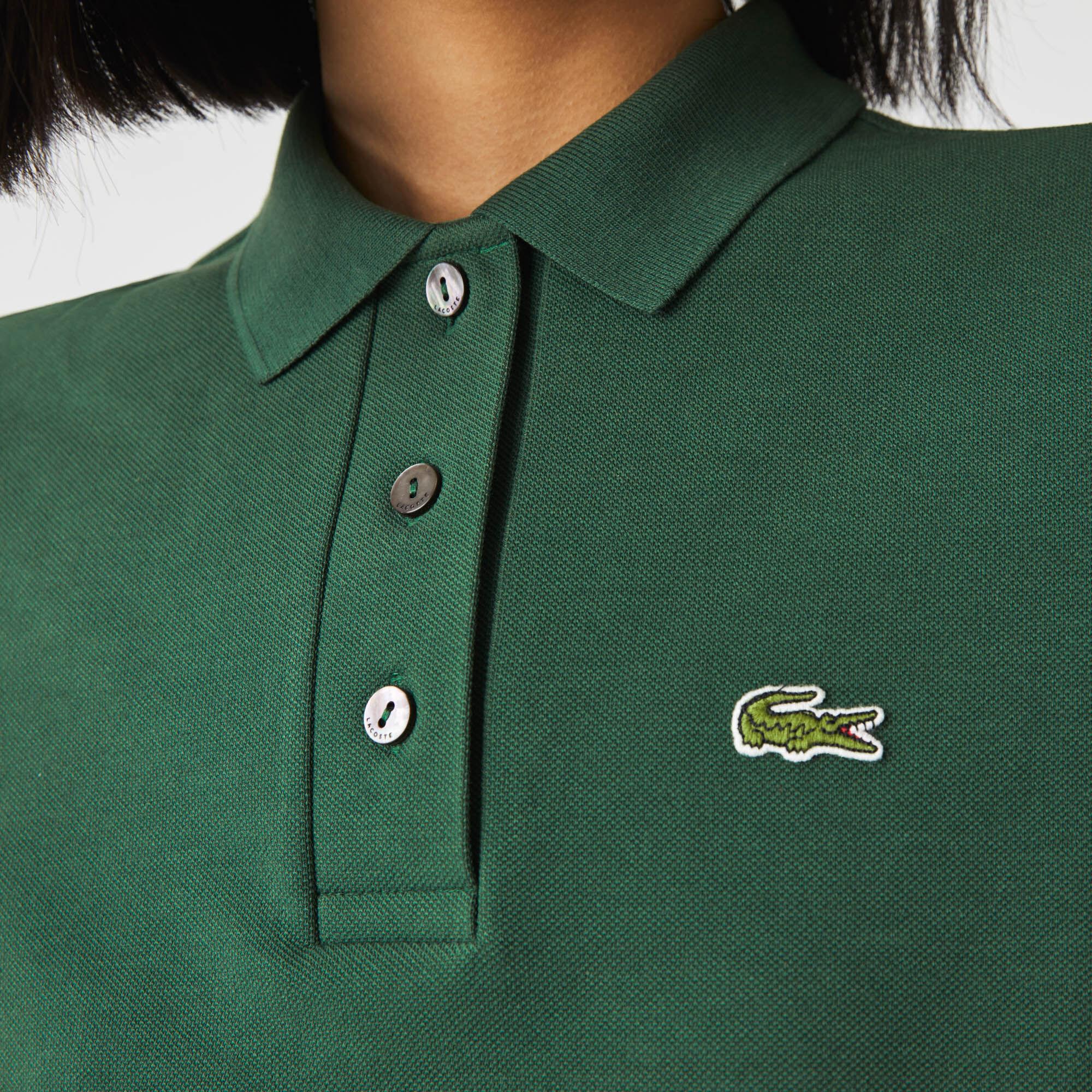 Women's Lacoste Regular Fit Striped Organic Cotton Polo