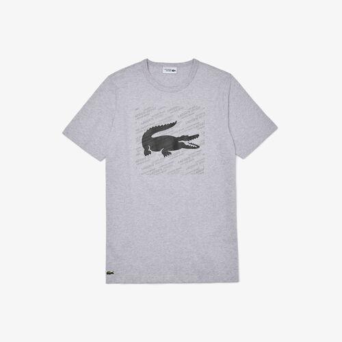 Men's Lacoste Sport Reflective Crocodile Print Cotton T-shirt