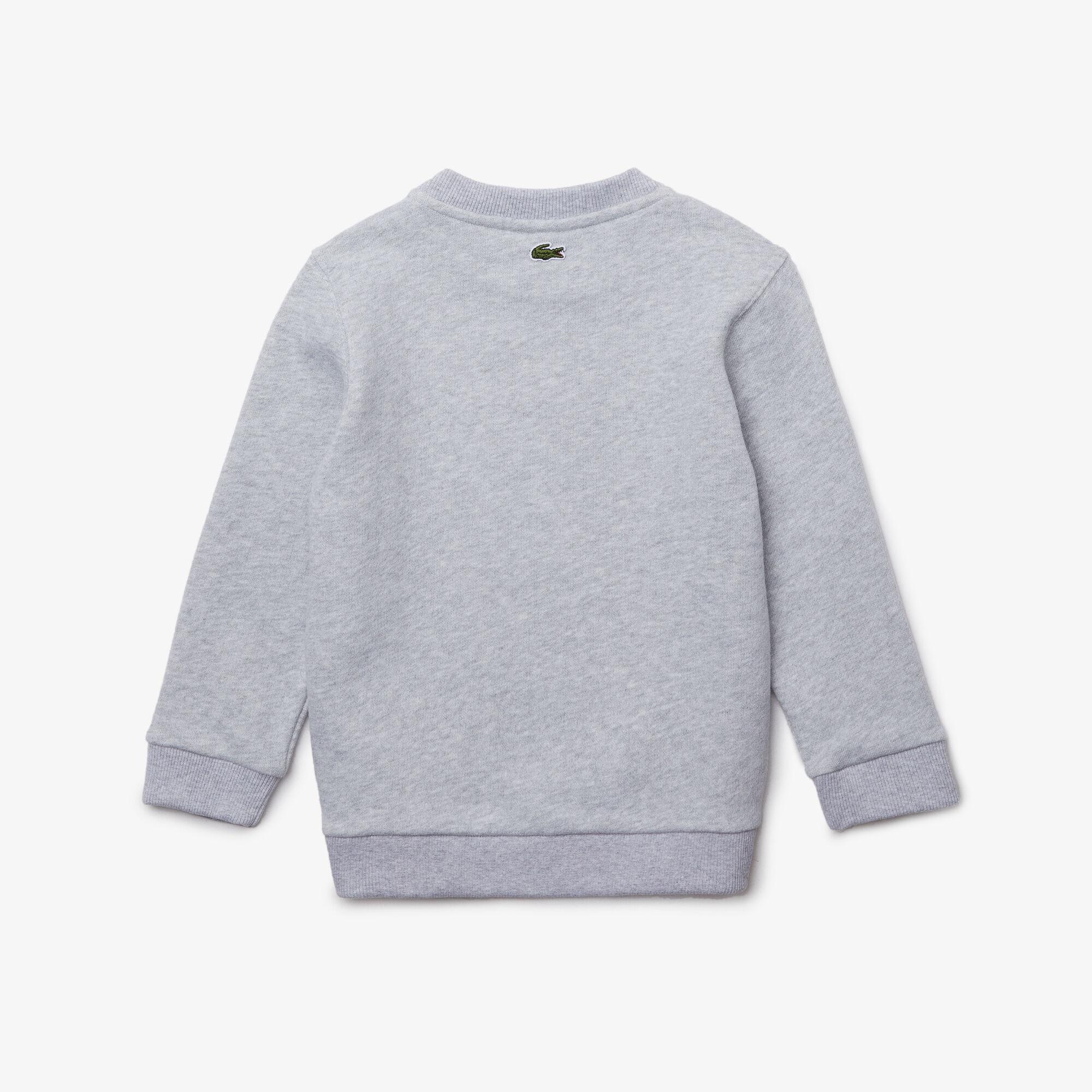 Boys' Crew Neck Fun Crocodile Design Cotton Sweatshirt