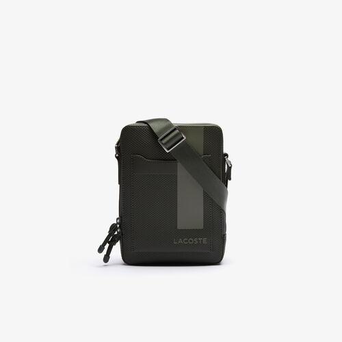 Men's Chantaco Vertical Graphic Matte Piqué Leather Zip Bag