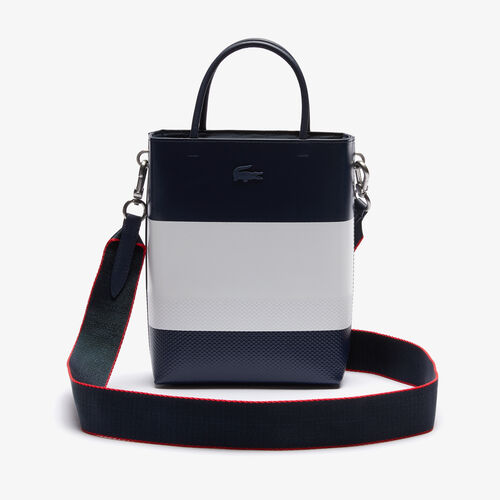 Women's Chantaco Rectangular Colorblock Piqué Leather Bucket Bag