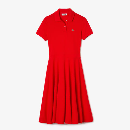 Women's Fitted Cotton Piqué Polo Dress