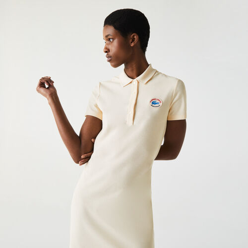 Women's Made In France Organic Textured Cotton Piqué Polo Dress