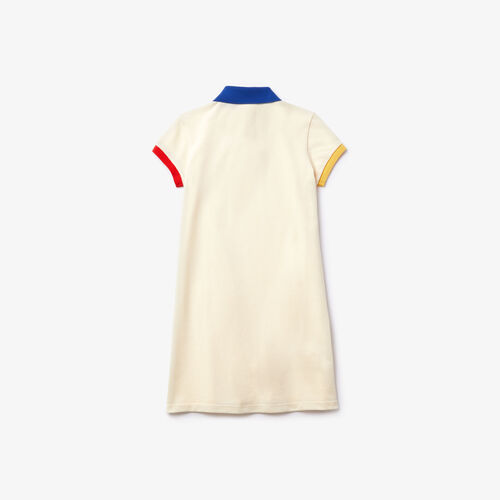 Girl's Polo-style Contrast Cotton Dress