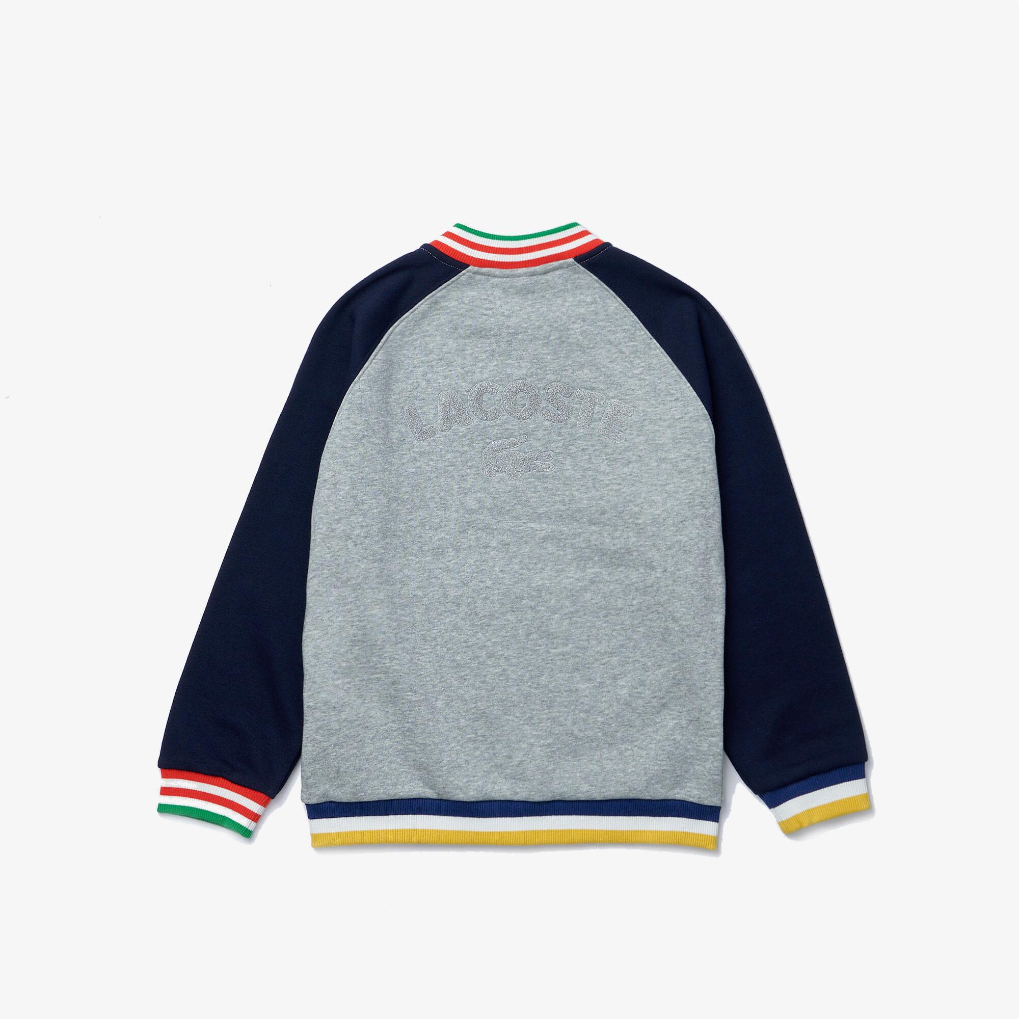 Boys' Bicolor Striped Accents Fleece Teddy Jacket