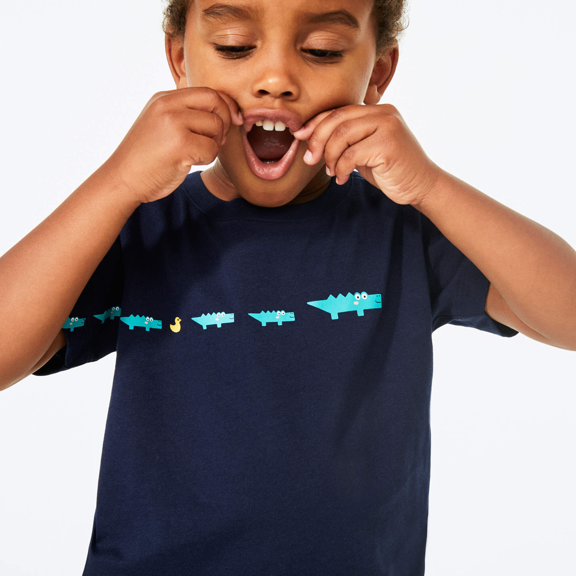 Boy's Crew Neck Printed Cotton T-shirt