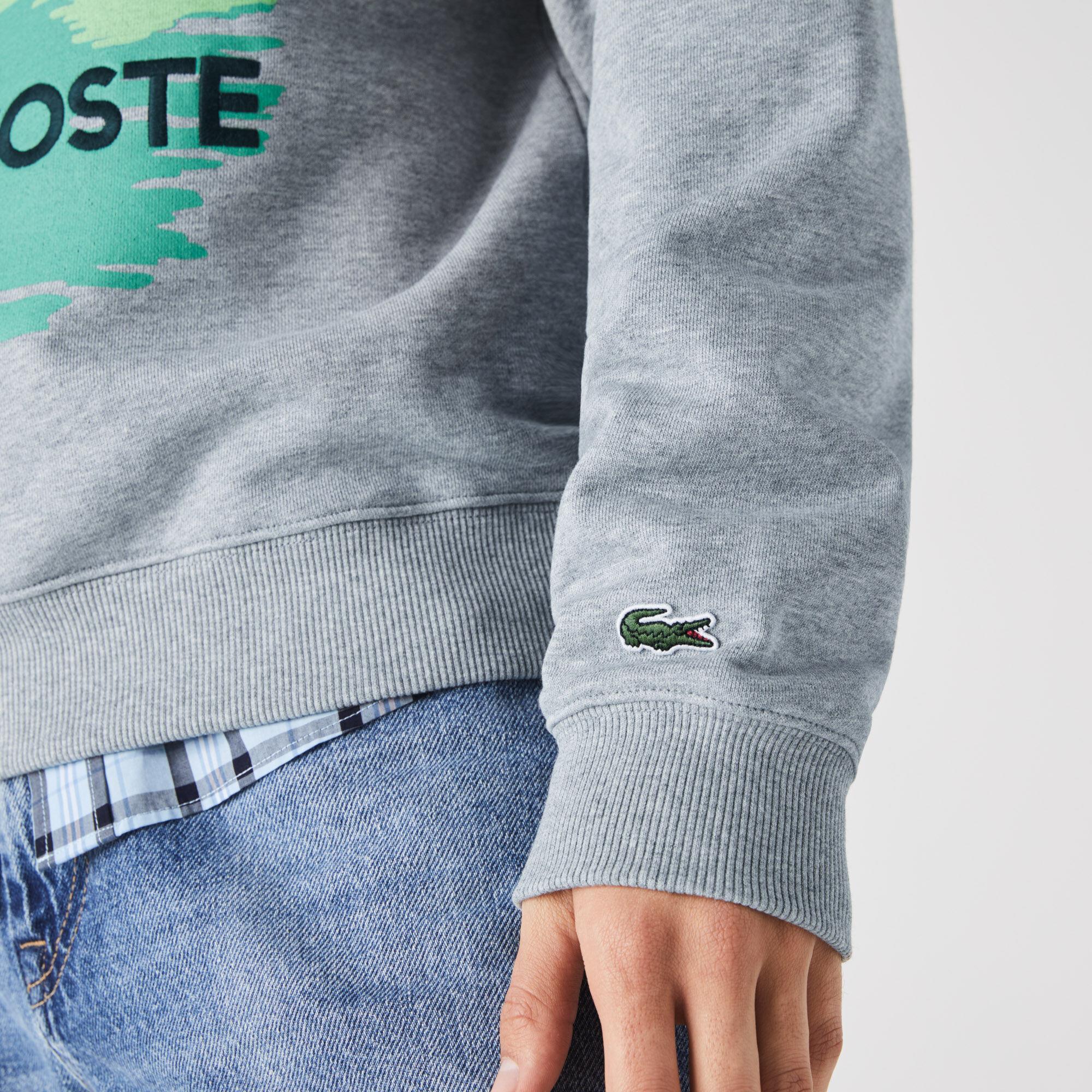 Men's Crew Neck Landscape Print Fleece Sweatshirt