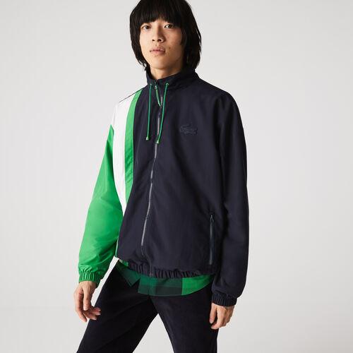 Men's Lightweight Water-resistant Colorblock Zip Jacket