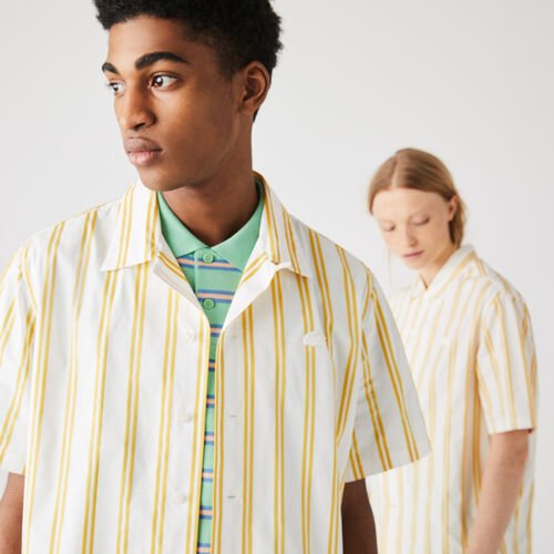 Unisex Lacoste Live Striped Satiny Shirt