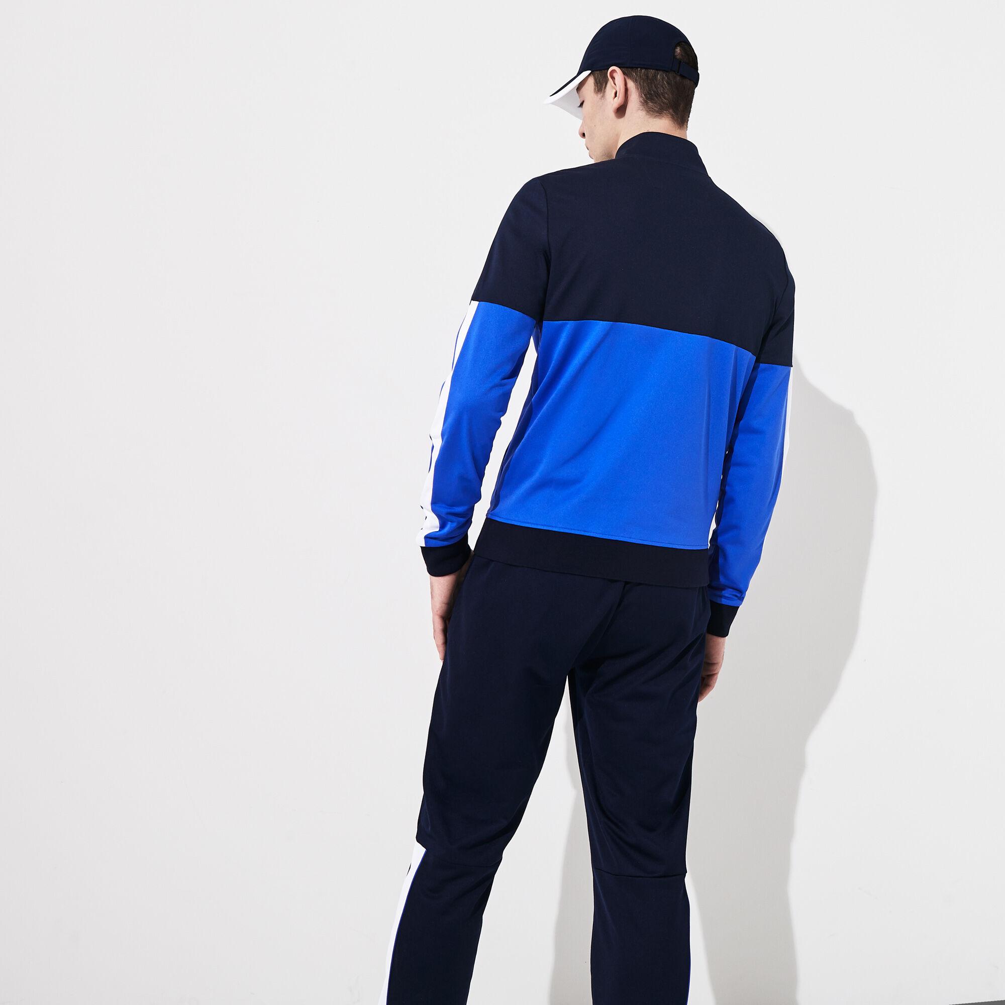 قميص ثقيل بسحاب من البيكيه المقاوم للمياه متعدد الألوان من مجموعة Lacoste SPORT للرجال