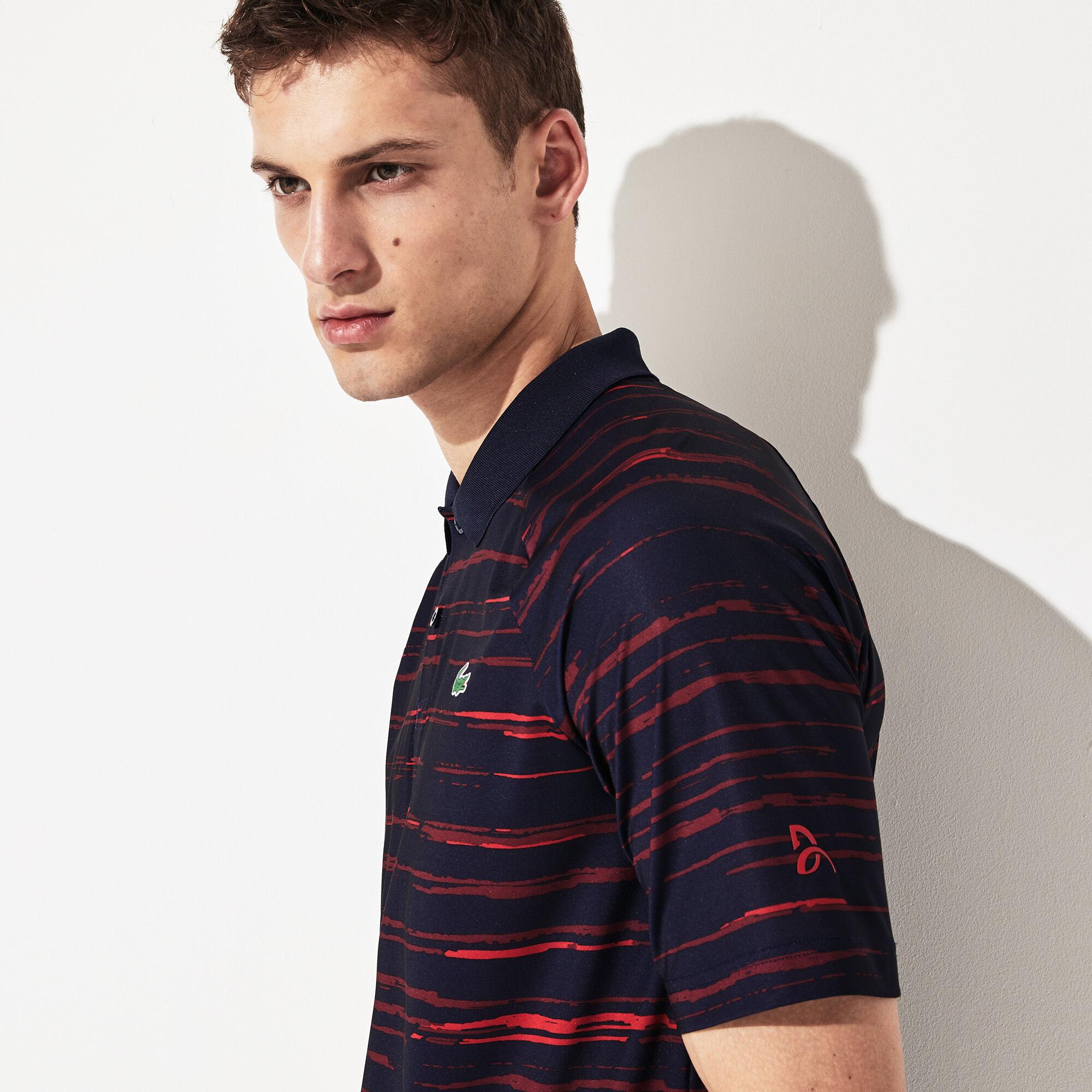 Men's Lacoste SPORT x Novak Djokovic Print Jersey Polo Shirt