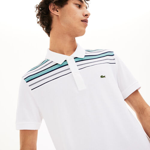 Men's Lacoste Striped Pane Polo Shirt