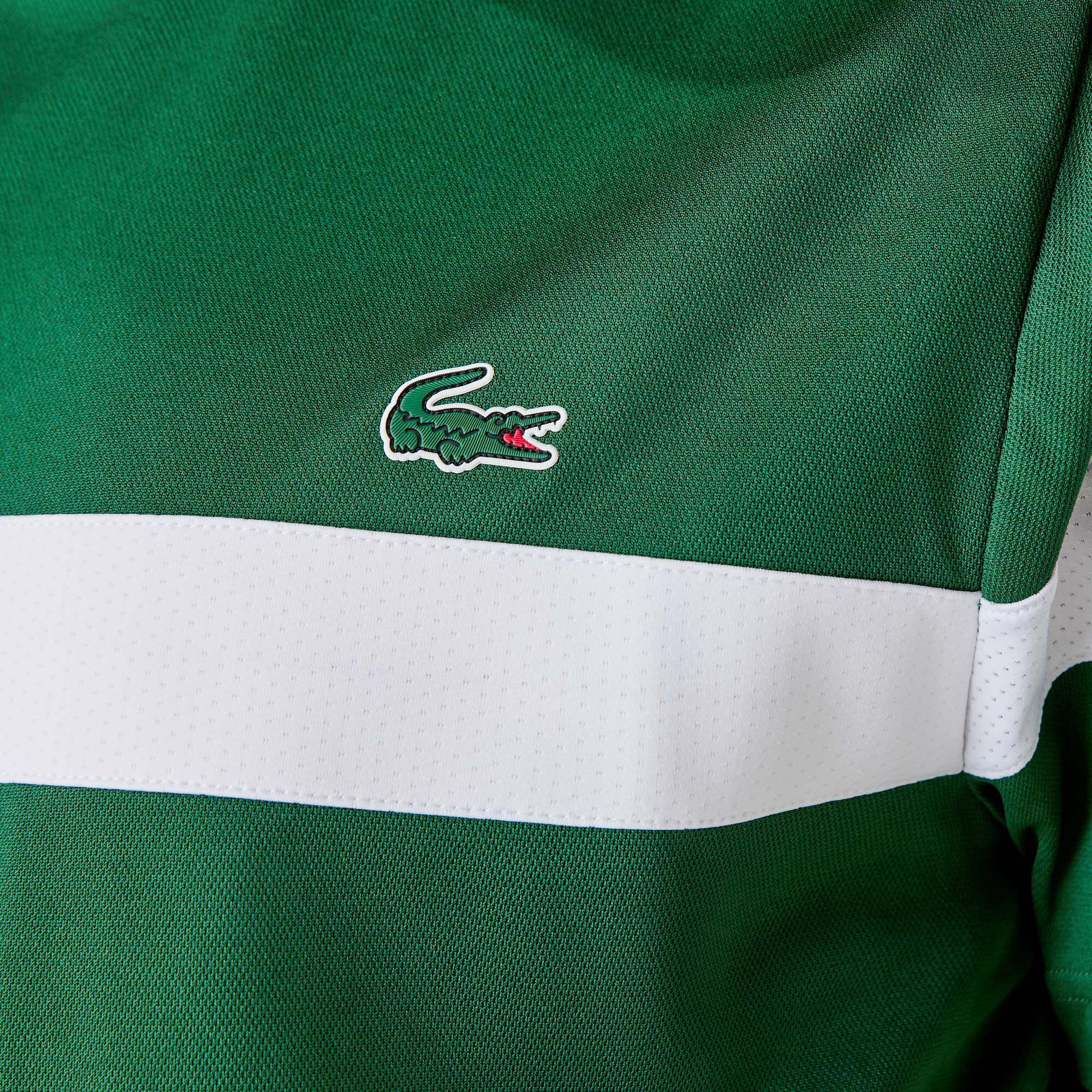 Men's Lacoste SPORT Colourblock Breathable Piqué Tennis T-shirt