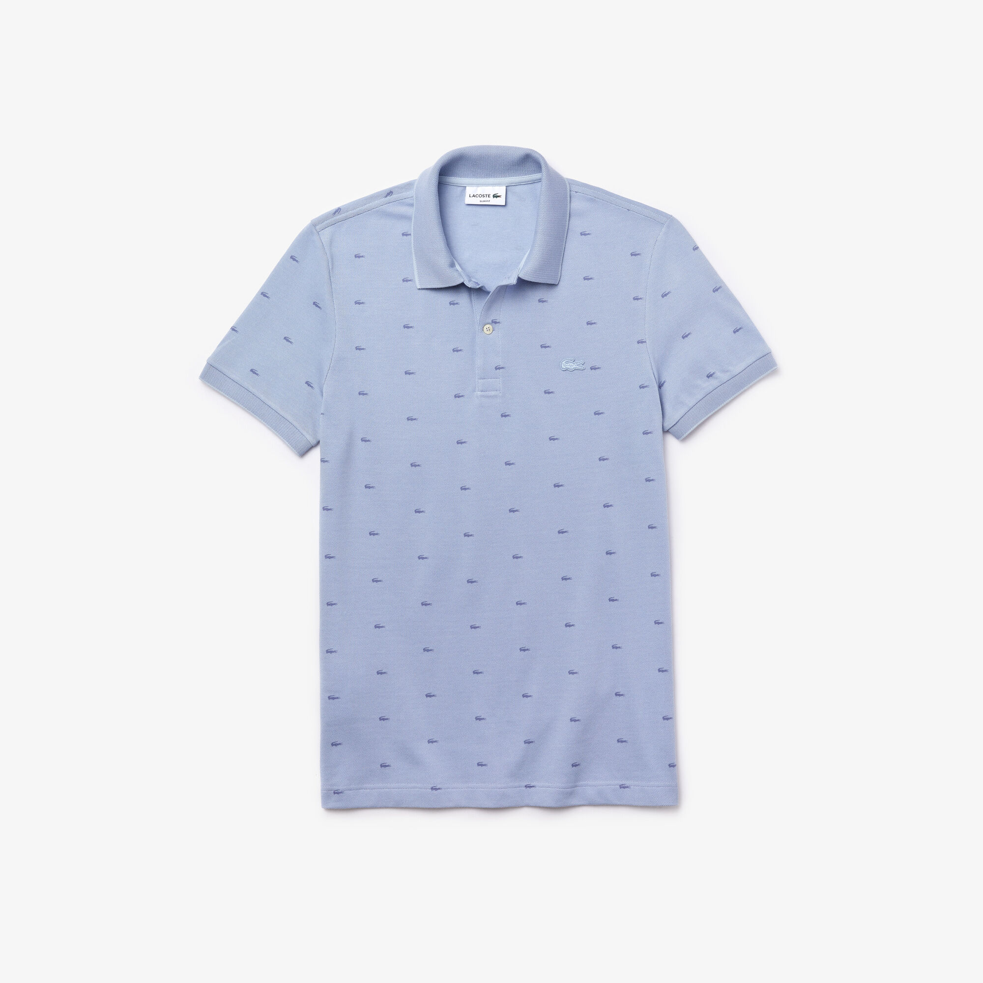 Men's Lacoste Micro Print Polo Shirt