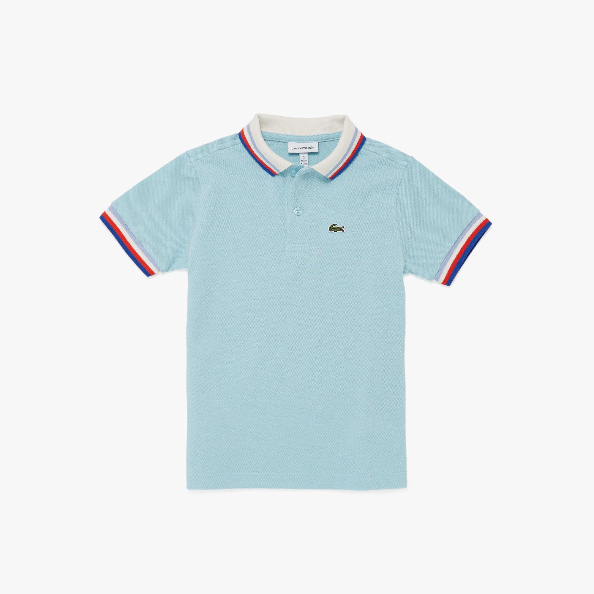 قميص بولو قطني تراثي للصبيان من Lacoste