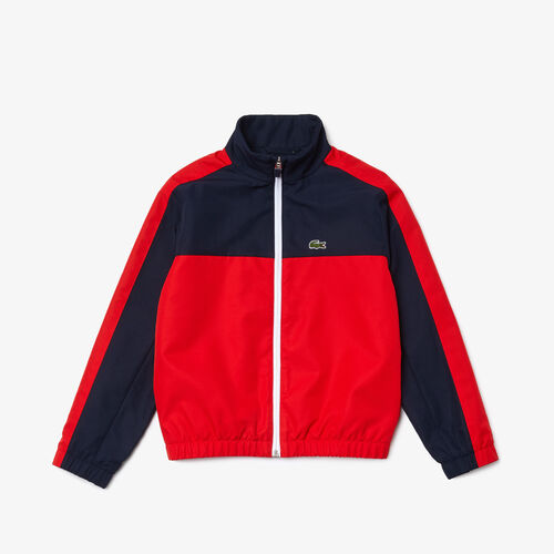 Boys' Lettered Colorblock Lightweight Zip Jacket