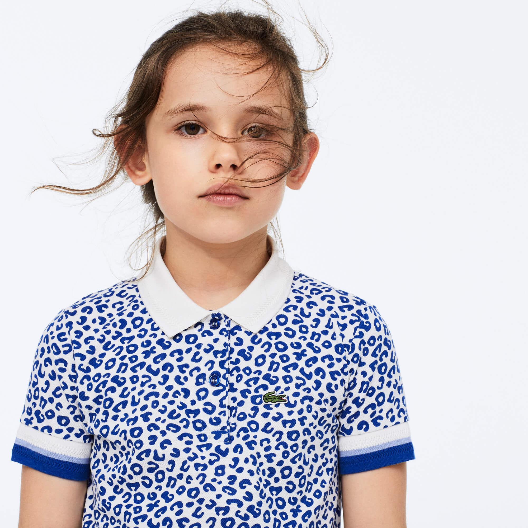 قميص بولو للبنات بطبعة الفهد من Lacoste