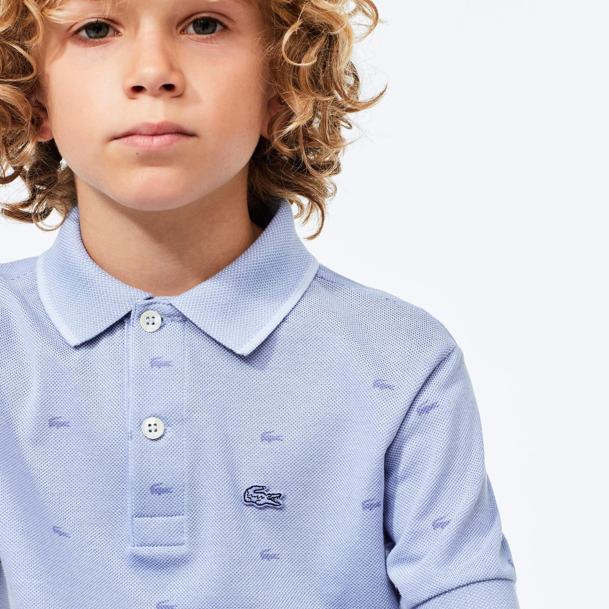 Boy's Printed Lacoste Polo Shirt