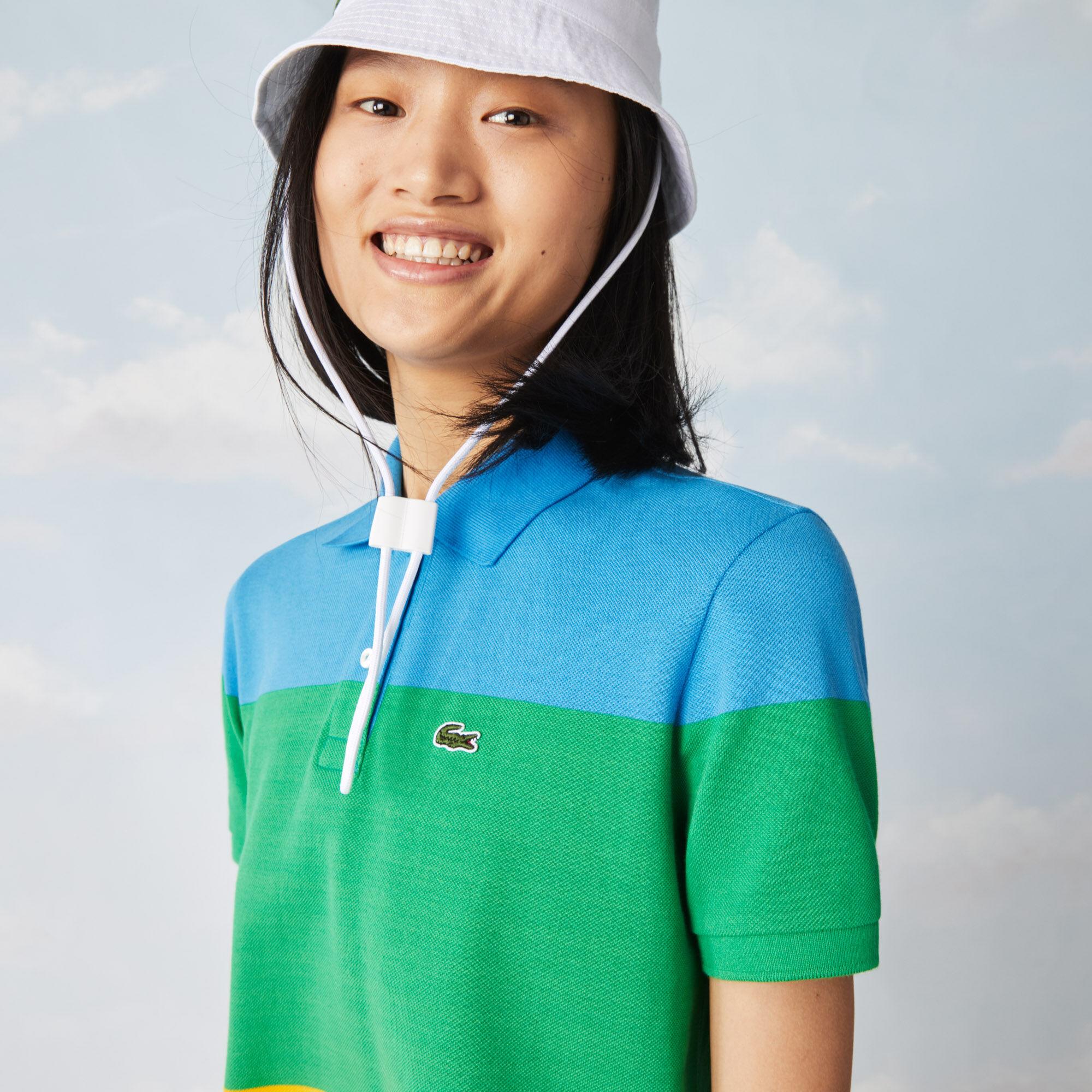 Women's Polaroid Collaboration Striped Cotton Piqué Polo Dress