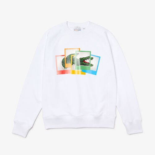 Unisex Lacoste Live Polaroid Collaboration Loose Fit Sweatshirt