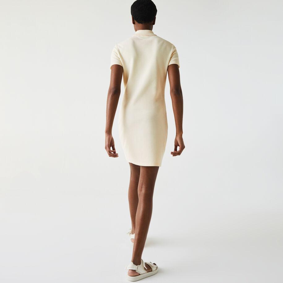 Women's Made In France Organic Textured Cotton Piqué Polo Dress