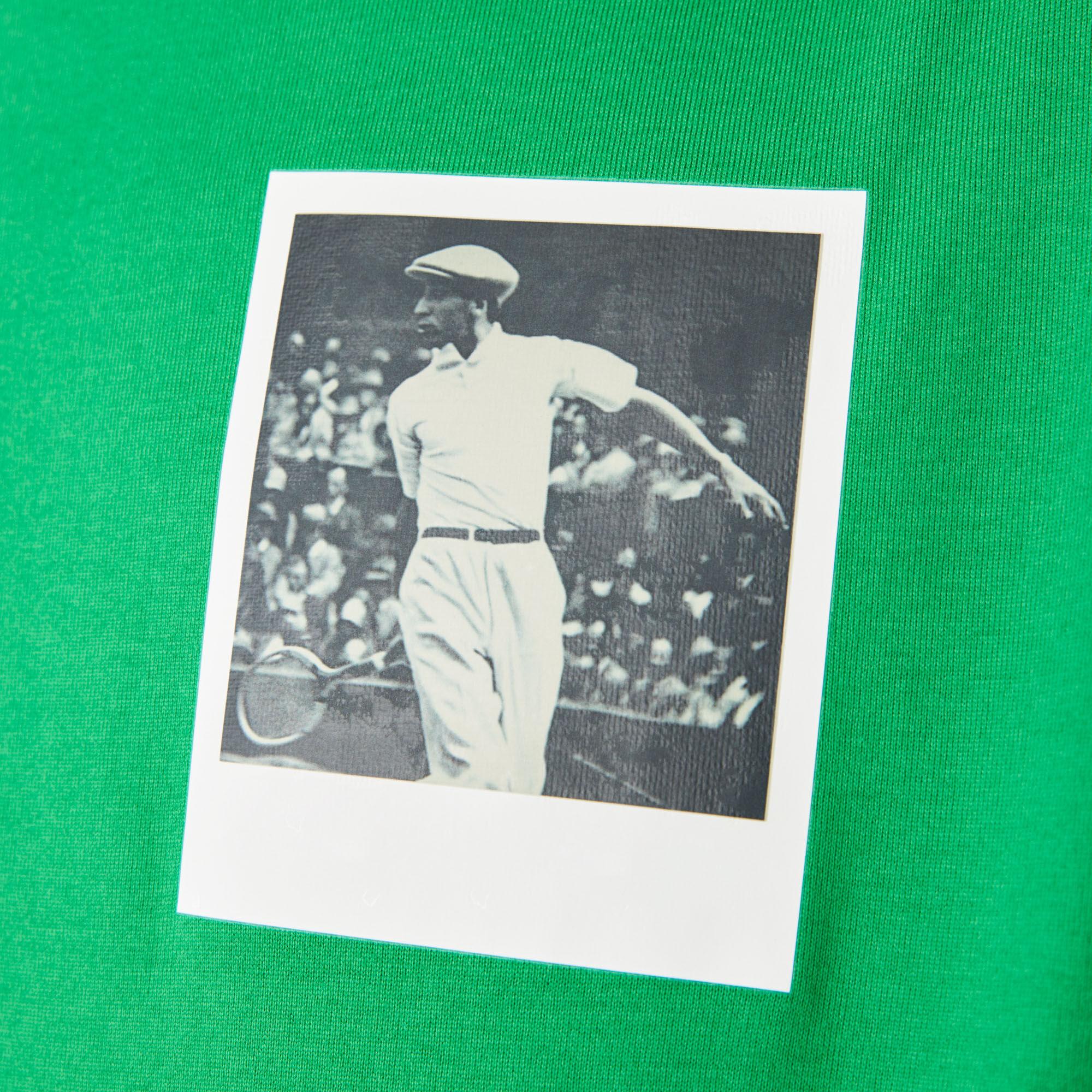 Women's Crew Neck Polaroid Collaboration Print Cotton T-shirt
