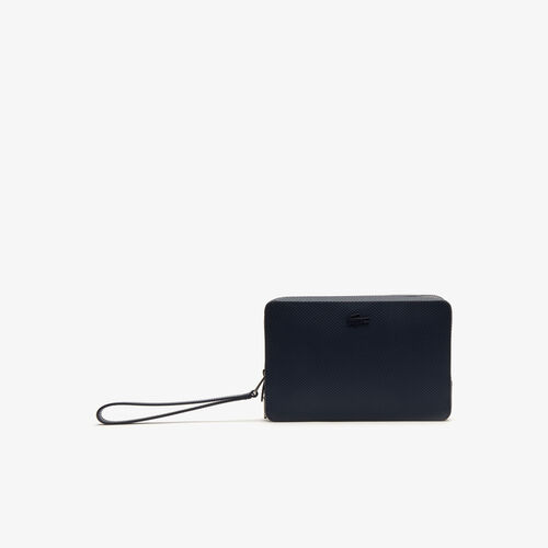 Men's Chantaco Piqué Leather Zip Pouch