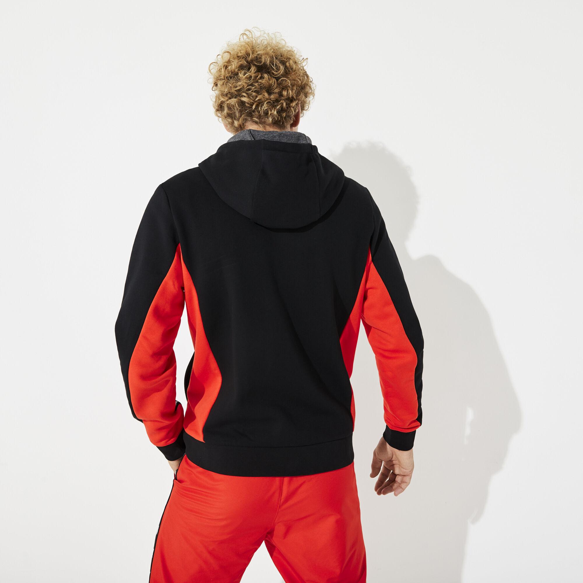 Men's Lacoste SPORT Two-Tone Fleece Hoody Sweatshirt