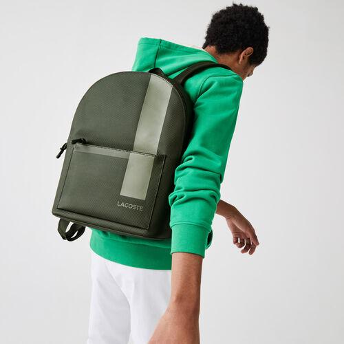 Men's Chantaco Graphic Piqué Leather Backpack