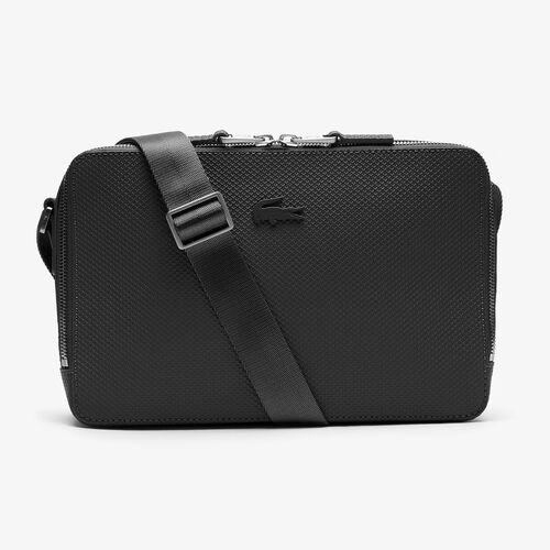 Men's Chantaco Matte Stitched Leather Zippered Crossbody Bag