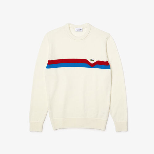 Men's Made In France Ethical Striped Wool Sweater