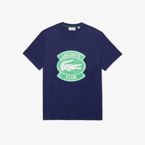 Men's Crew Neck Oversized Lacoste Club Badge Cotton T-shirt