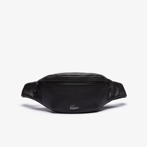 Men's Soft Mate Grained Leather Zip Fanny Pack