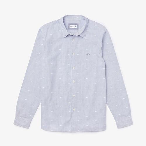 Men's Crocodile Print Poplin Shirt
