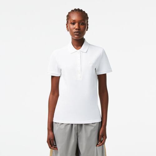 Women's Lacoste Slim Fit Stretch Cotton Piqué Polo Shirt