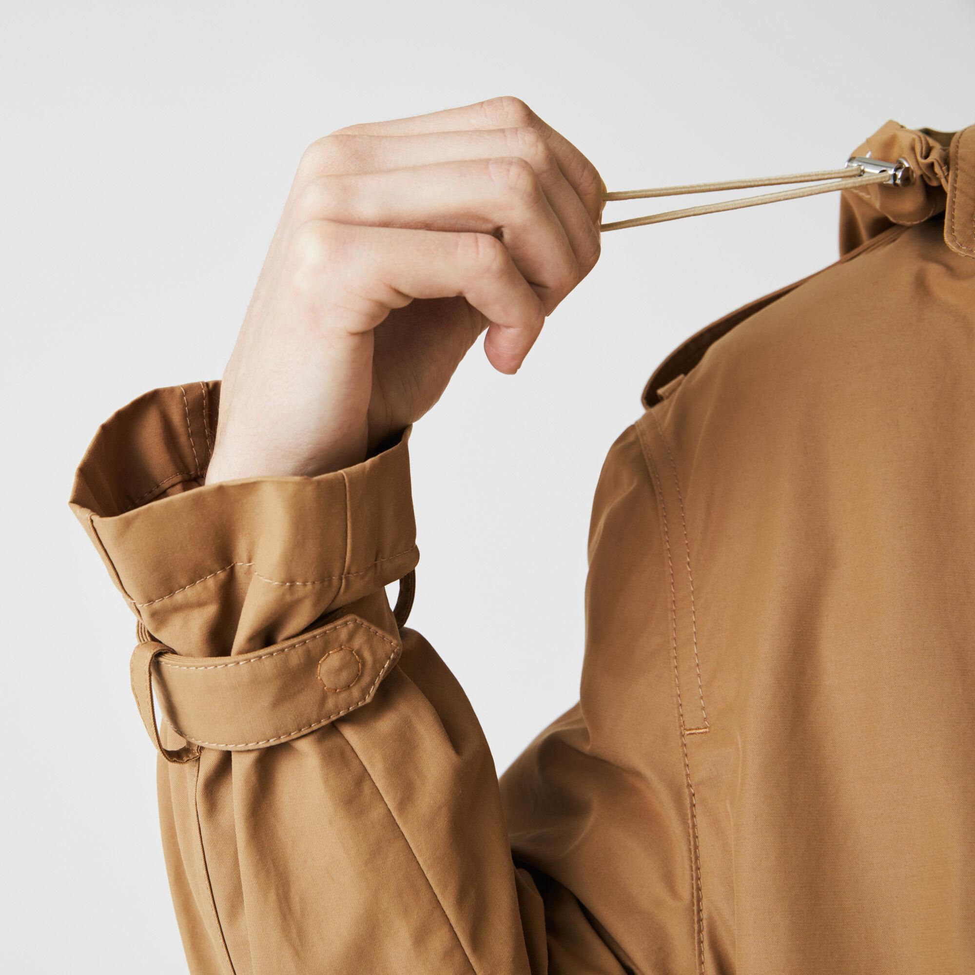 معطف كتيم خفيف الوزن للجنسين من نسيج الكانفا السادة