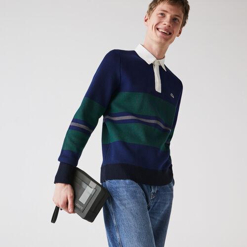 Men's Chantaco Graphic Piqué Leather Zip Pouch