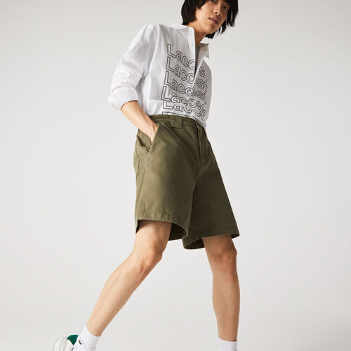 Men's Relaxed Fit Soft Cotton Cargo Bermuda Shorts