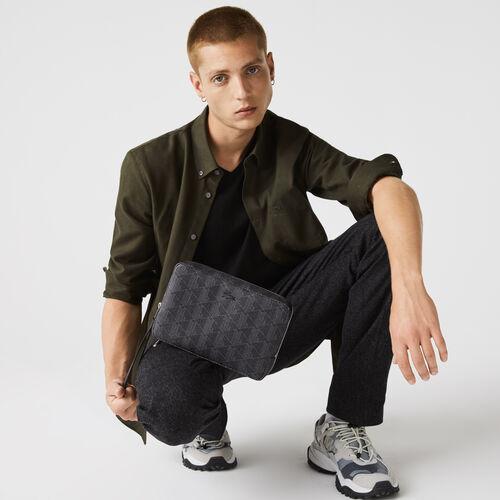 حقيبة يد رجالية من قماش الكانفاس بسحاب