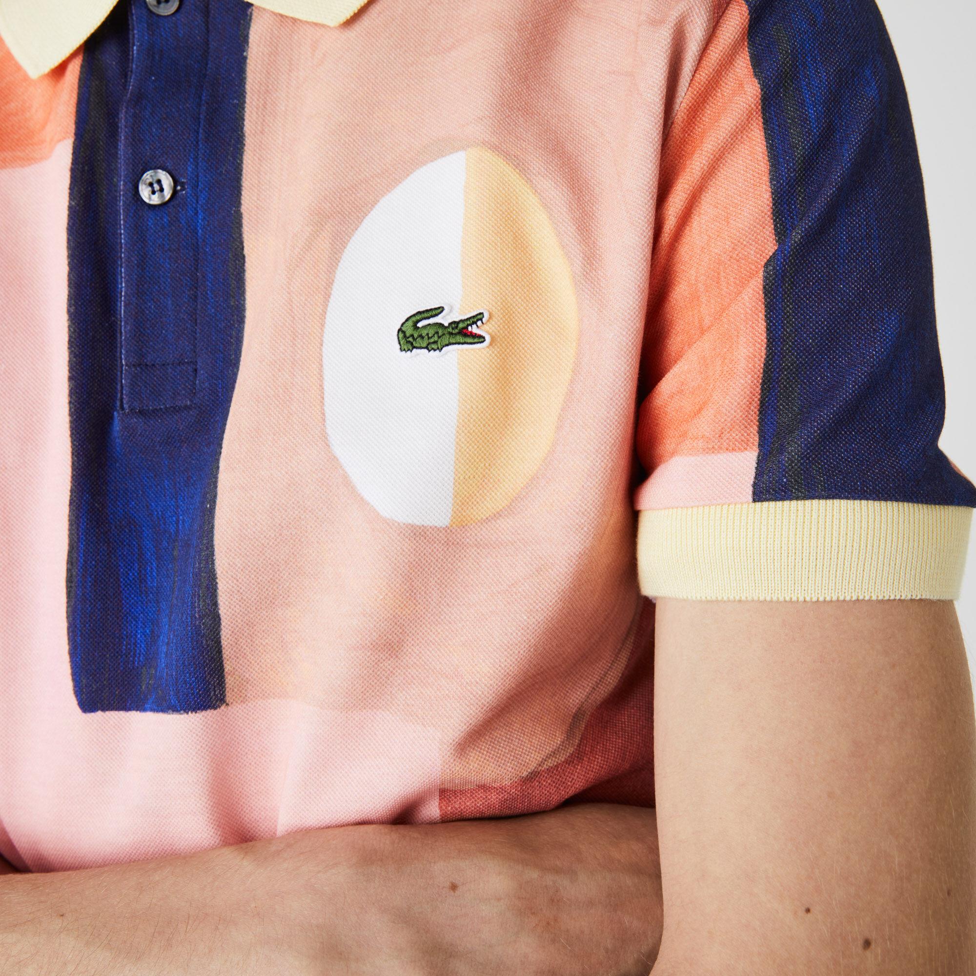 Men's Lacoste Regular Fit Paint Print Cotton Piqué Polo