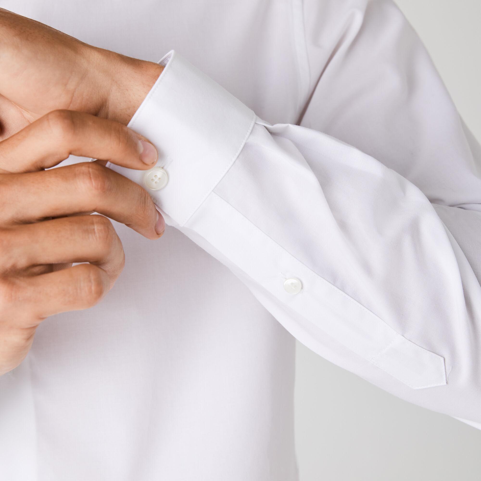قميص من قطن بوبلين المرن بقصة ضيقة للرجال