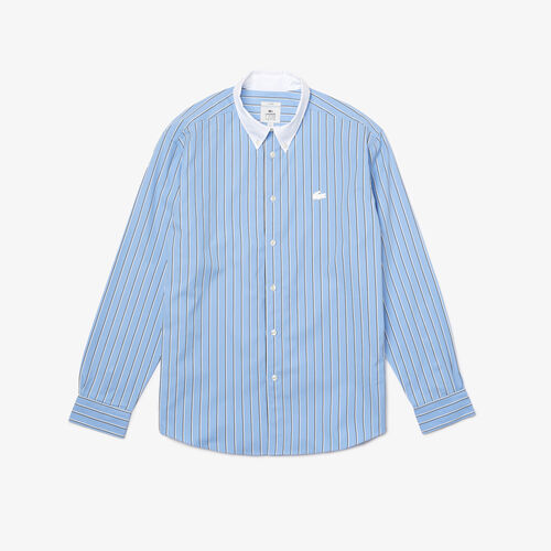 Unisex Lacoste Live Striped Cotton Shirt