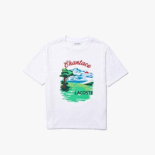 Women's Crew Neck Chantaco Print Cotton T-shirt