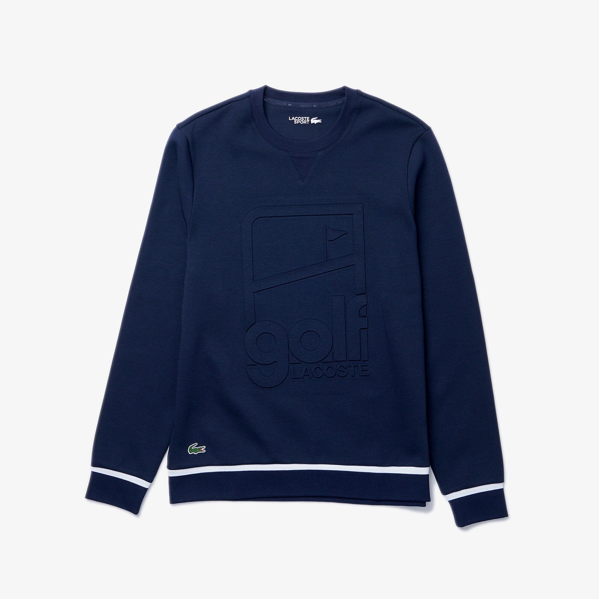 Men's Lacoste SPORT Crew Neck Graphic Print Golf Sweatshirt