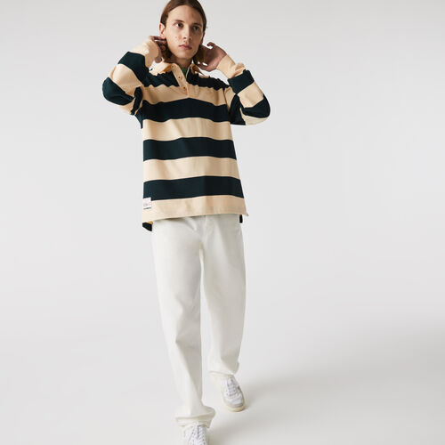 Men's Lacoste Striped Cotton Rugby Shirt
