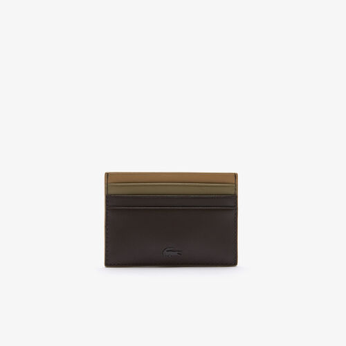 Men's Fitzgerald Tricolor Smooth Leather Card Holder