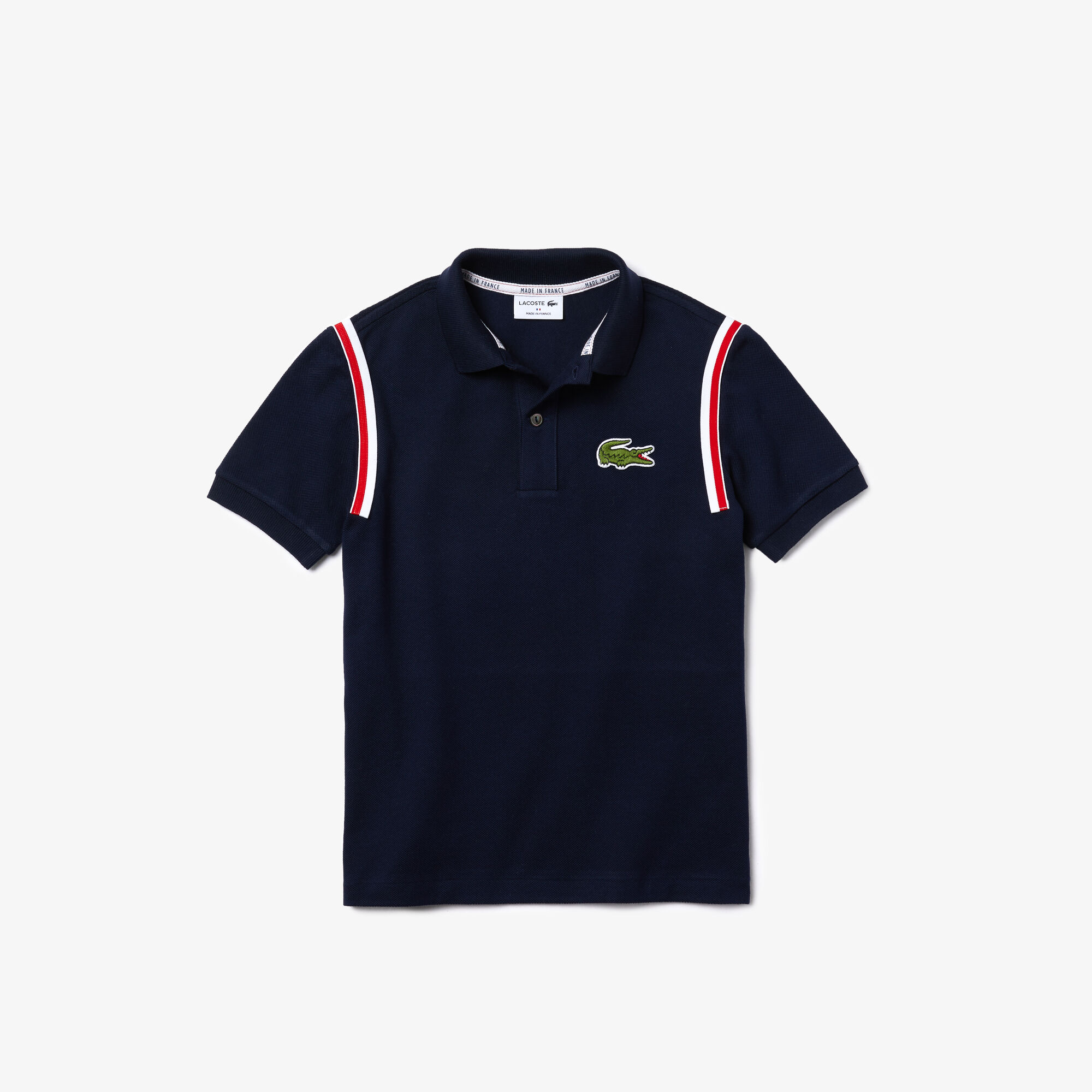 قميص بولو من بيكيه القطن العضوي للأولاد مجموعة Made In France