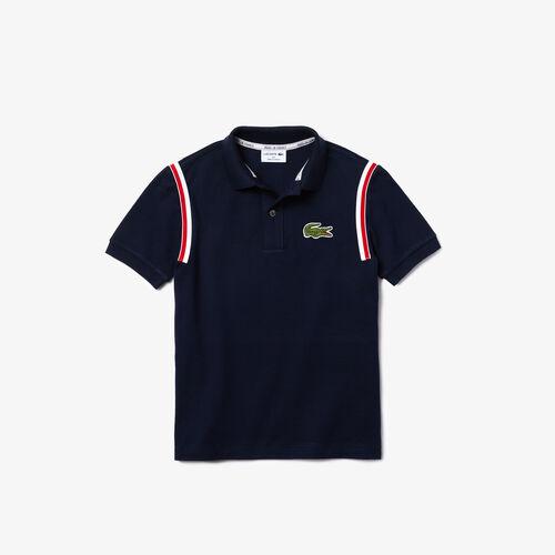 Boys' Lacoste Made In France Organic Cotton Piqué Polo
