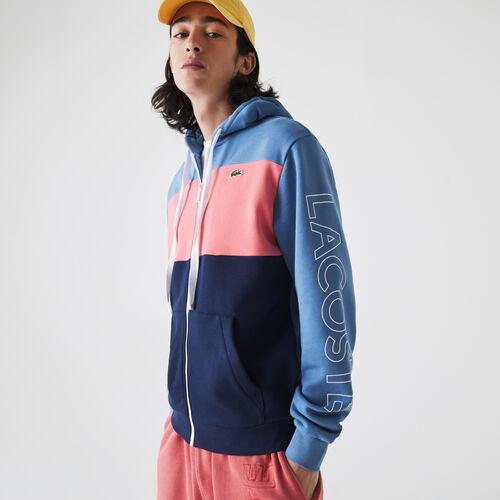 Men's Hooded Colorblock Fleece Zip Sweatshirt
