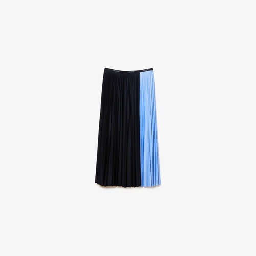 Women's Mid-length Colourblock Pleated Skirt